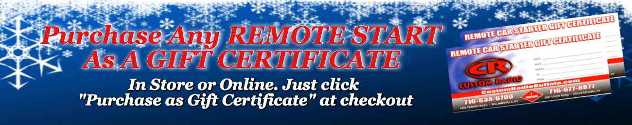 Remote Start Gift Certificate