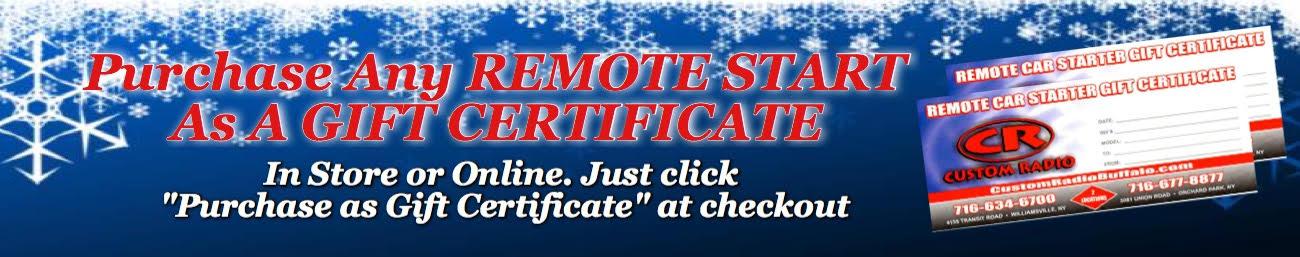 Remote Start Gift Certificate
